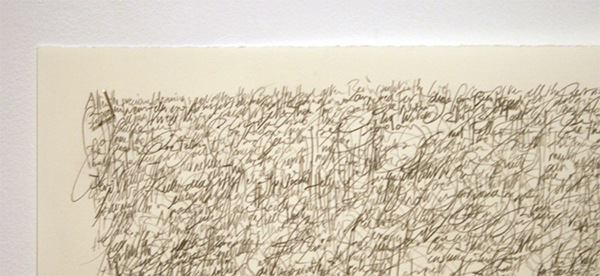 Toon van Borm - The Witness - 64x96cm Potlood op papier (detail)