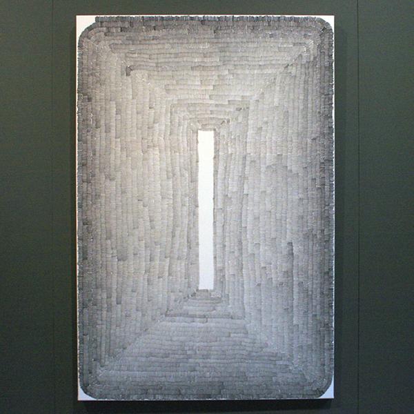 Wieteke Heldens - Portrait of the Vertical Minur - 150x100cm Marker op doek