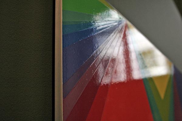 Willem Besselink - Mijn Afstanden Augustus 2007 - 80x160cm Hogglanslak op MDF (detail)