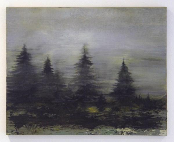 Willem Sanders - Mediated Landscape #2 - 40x40cm Olieverf op paneel