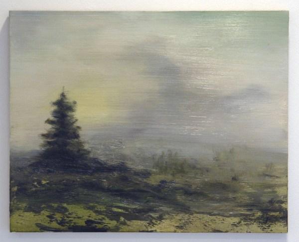 Willem Sanders - Mediated Landscape #3 - 40x40cm Olieverf op paneel