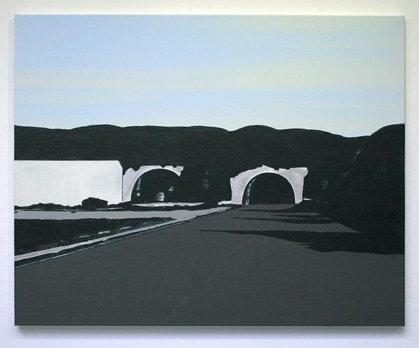 Wim Claessen - Tunnel - 80x100cm Acrylverf op MDF