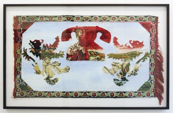 Wim Delvoye - Untitled - Acrylverf en olieverf op tapijt