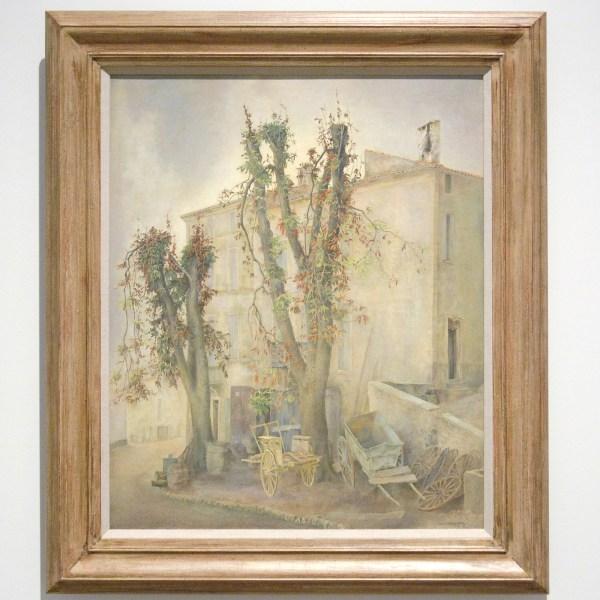 Wim Schuhmacher - Frcalquier, Frankrijk - Olieverf op doek, 1949