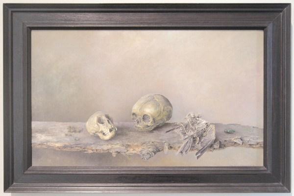 Wim Schumacher - Stilleven met schedels en vogelskelet - Olieverf op doek, 1942