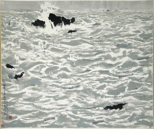 Wu Guanzhong - Seascape at Beidaihe - 96x115cm