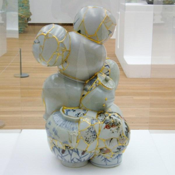 Yee Sookyung - Translated Vase 13 - Stukgegooid keramiek, epoxy en 24-karaats bladgoud, 2008