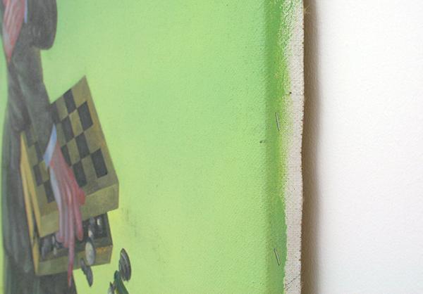 Yuri Rodekin - Green Snake - 170x85cm Olieverf op canvas (detail)