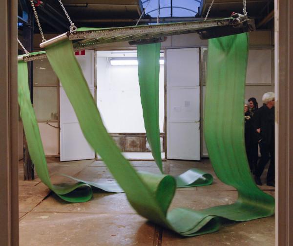 Bij Garage Rotterdam bij de Van Nelle Fabriek, dit werk van Zoro Feigl