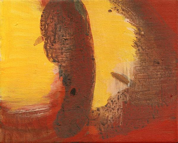 Giel Louws - Back 3 - 24x30cm Acrylverf op canvas