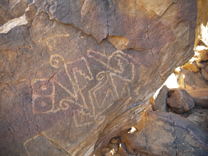 Petroglyph of Tlaloc in new Mexico