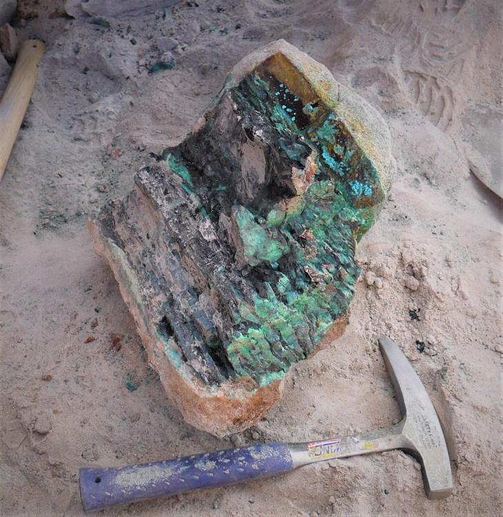 Fresh Nacimiento Copper Wood Chunk