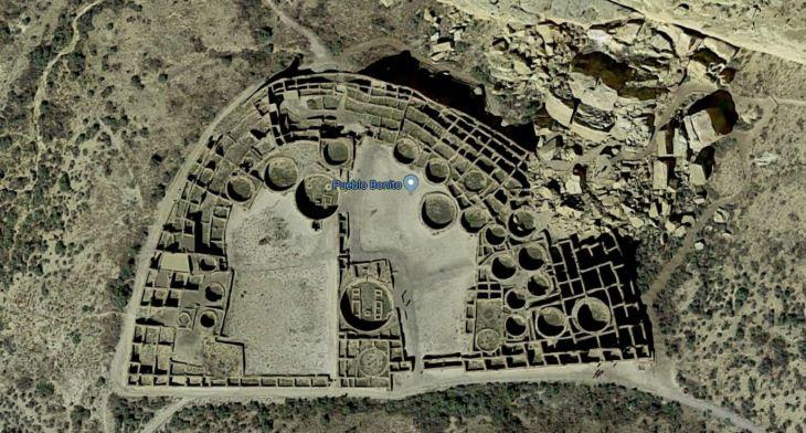 Pueblo Bonito Ruins at Chaco Canyon