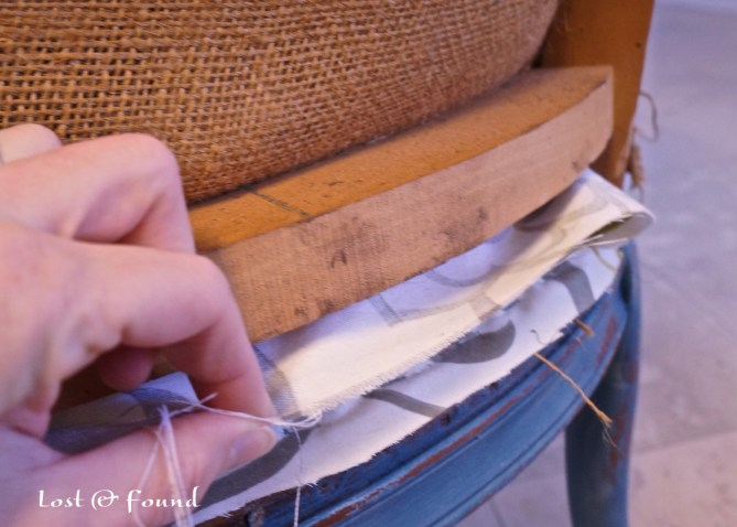 how to reupholster an old chair