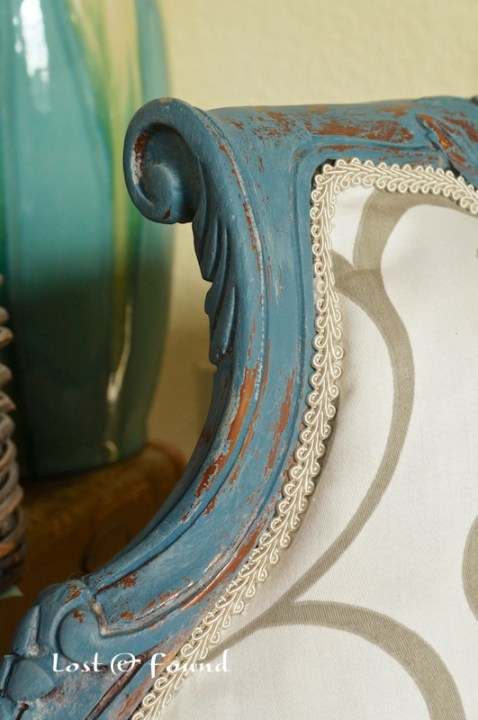 painted finish on french chair