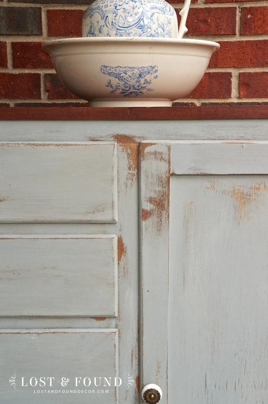 milk paint cabinet furniture makeover