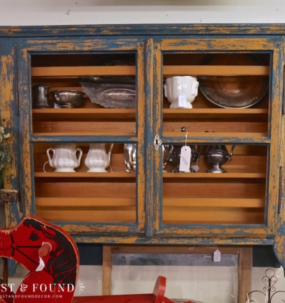 milk paint cabinet hutch furniture makeover