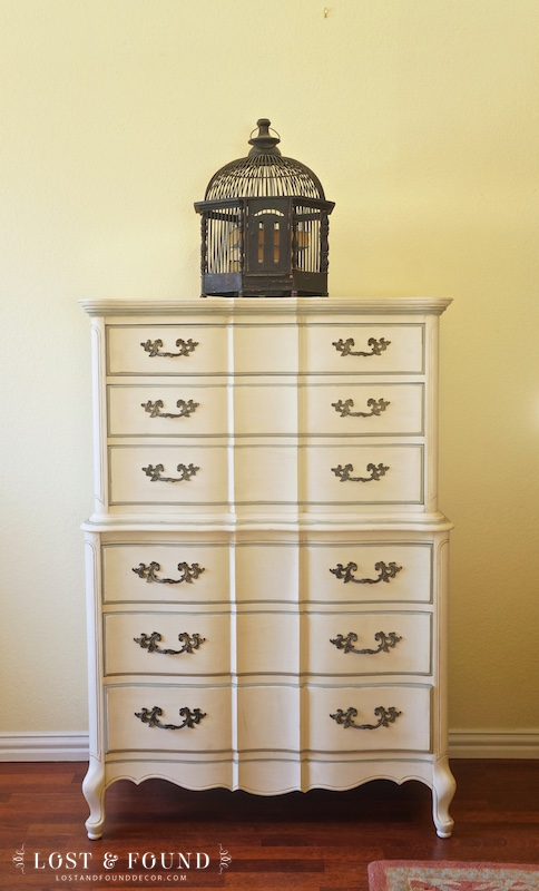 French Provincial Chest of Drawers painted in Chalk Paint