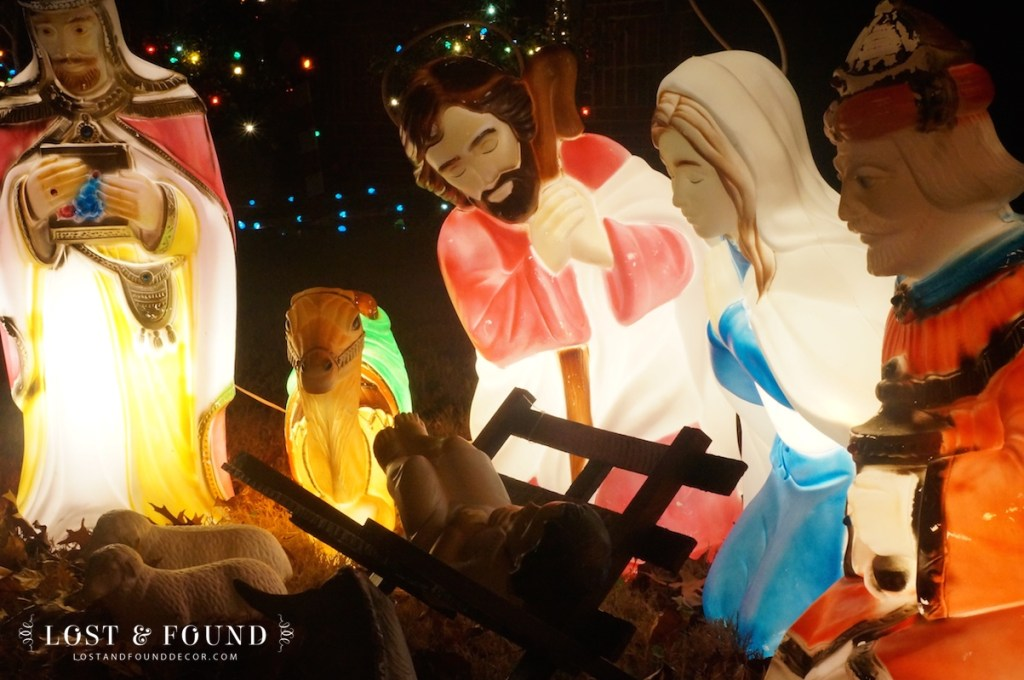 Vintage Nativity Light-Up Set