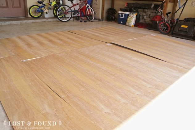 DIY Plywood Plank Flooring And Booth Makeover Reveal