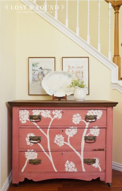Antique Oak Cherry Blossom Dresser, $250
