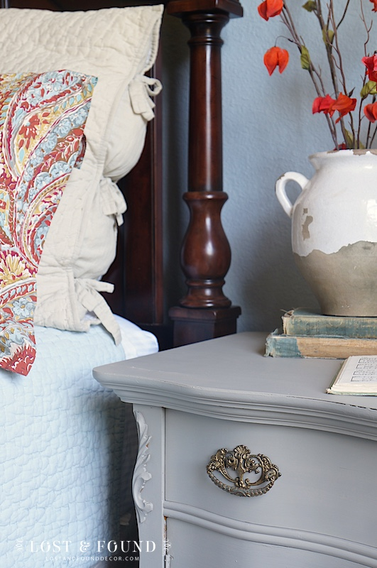 Bedroom with Painted Chest in Fusion Mineral Paint Linen