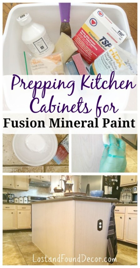 How to Prep Kitchen Cabinets for painting with Fusion Mineral Paint