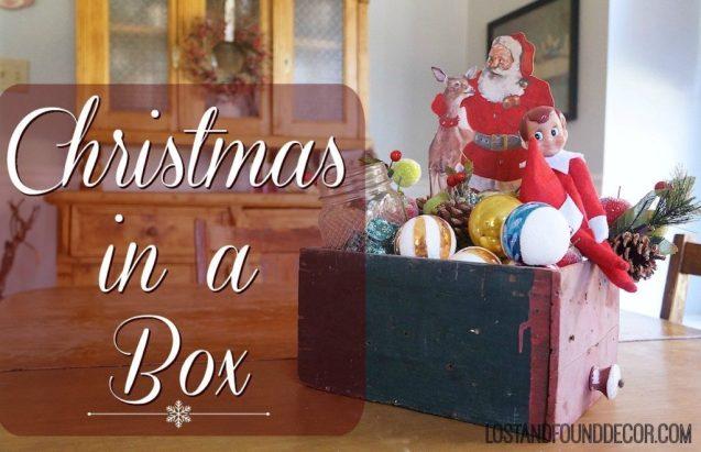 Easy vintage-style Christmas vignette