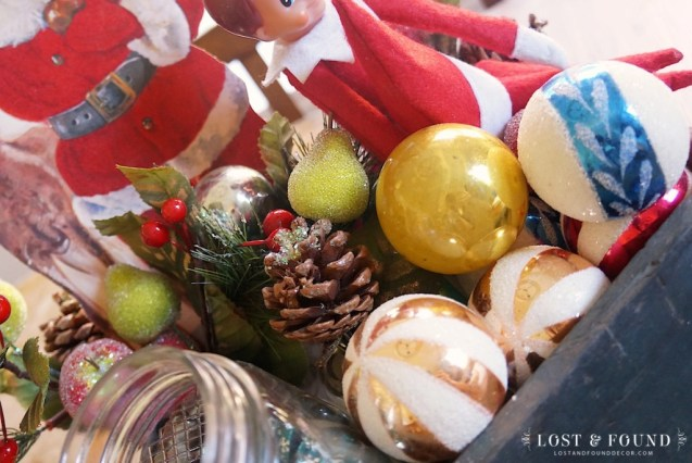 Awesome vintage glass Christmas ornaments