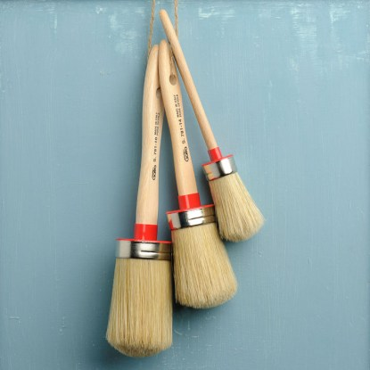 Fusion Mineral Paint natural-bristle brushes