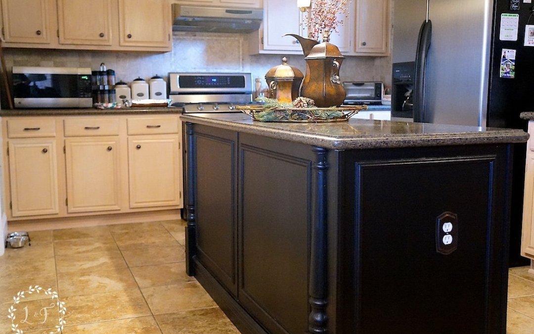 Builder-Grade Kitchen Island Upgrade