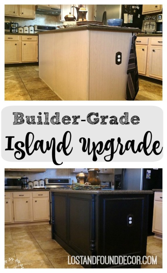 Builder-Grade Kitchen Island Upgrade