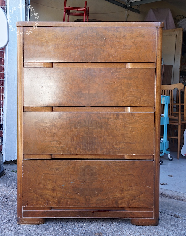 This Is A Chest I Picked Up Recently Off Craigslist. The Tops And Sides Of  The Piece Are Regular Wood Veneer, But You Can See That A Burled Wood  Veneer Was ...