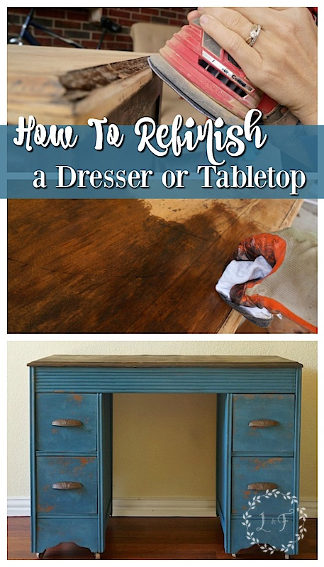 how to refinish a table top or dresser - Refinish Table