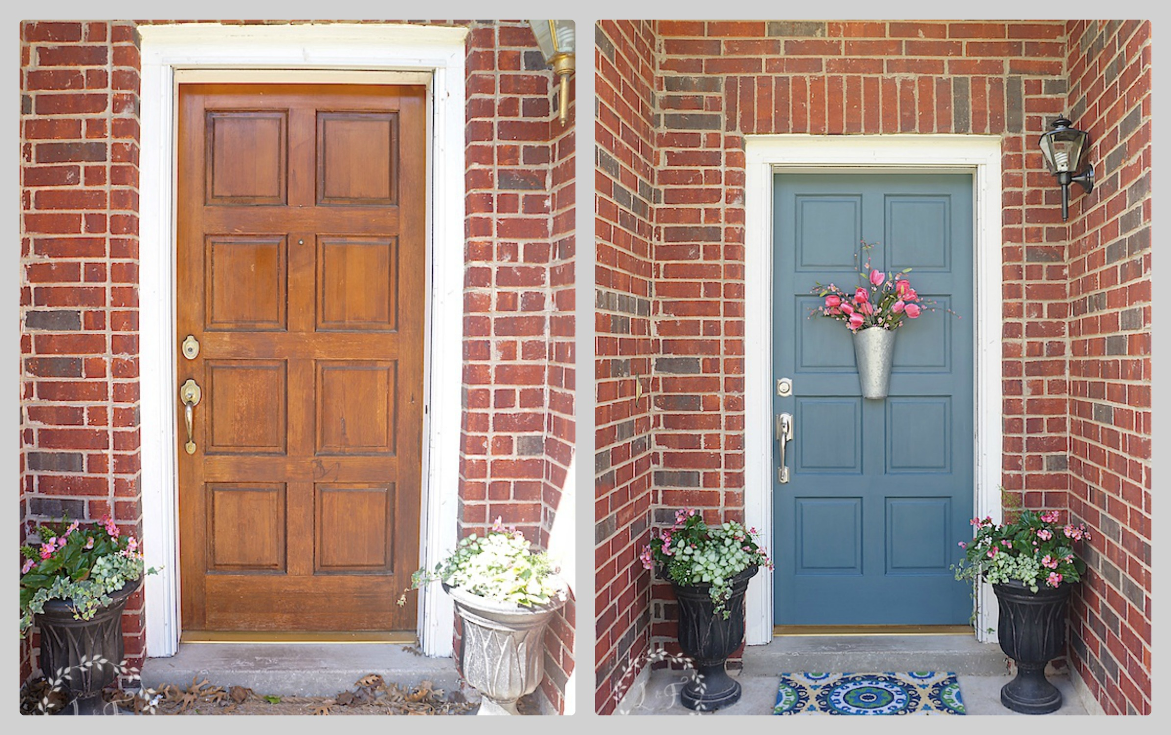 front door makeover using Fusion Mineral Paint & Front Door Refresh with Fusion Mineral Paint and a Giveaway ... Pezcame.Com