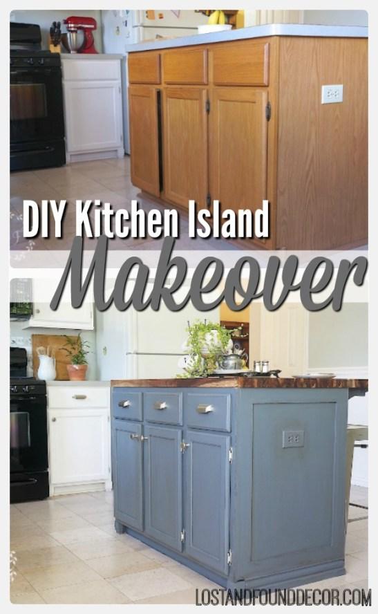 diy kitchen island makeover