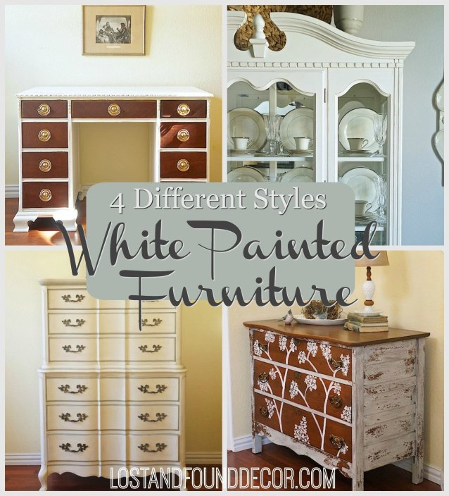 4 Different Ways to Create a Unique Style with White Painted Furniture