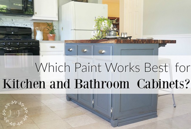 Which Is It Best Paint Use Kitchen Bath Cabinets