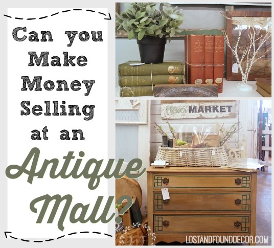 can you make money at an antique mall