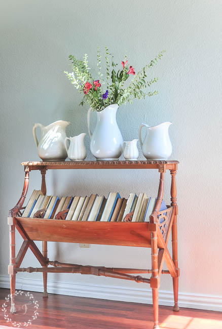 antique-ironstone-collection-with-table