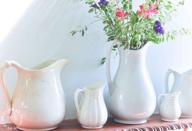 ironstone-pitcher-collection