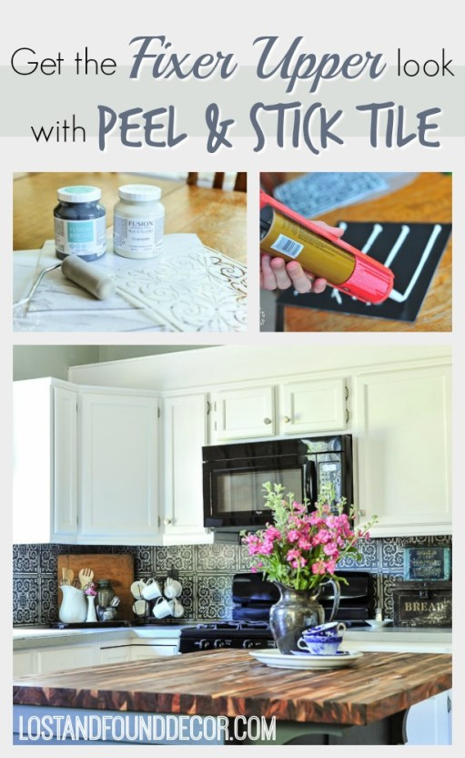 peel-and-stick-tile-stenciled-backsplash