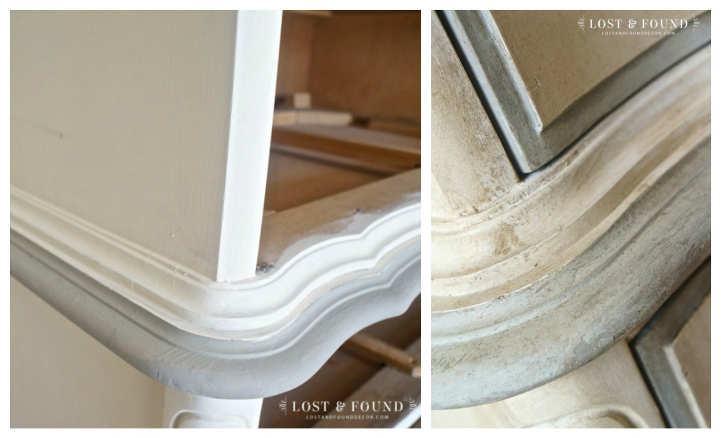 how-to-antique-painted-furniture-glaze-dark-wax - When And How To Use Antique Glaze Or Dark Wax On Your Painted