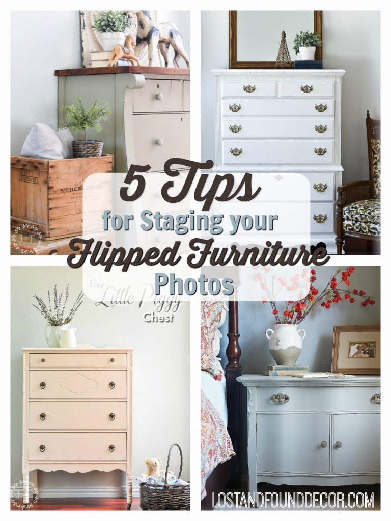 Five Tips To Stage Your Flipped Furniture Photos