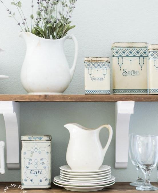 DIY Open Shelving plus Kitchen Makeover Update