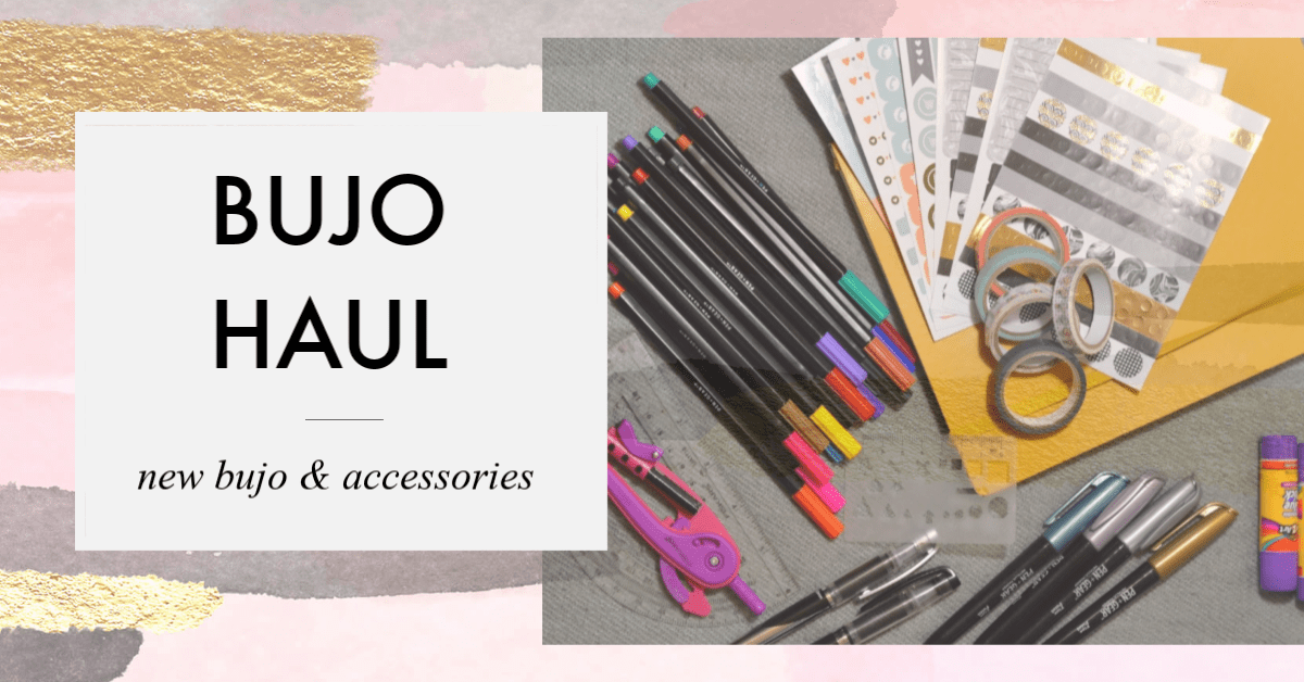 Bullet Journal Haul – neues BuJo, Sticker, Marker & mehr