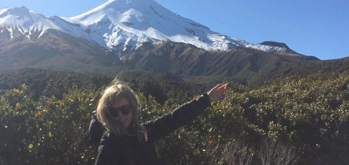 Mount Taranaki Posing