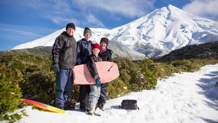Morris Family at Mount Taranaki