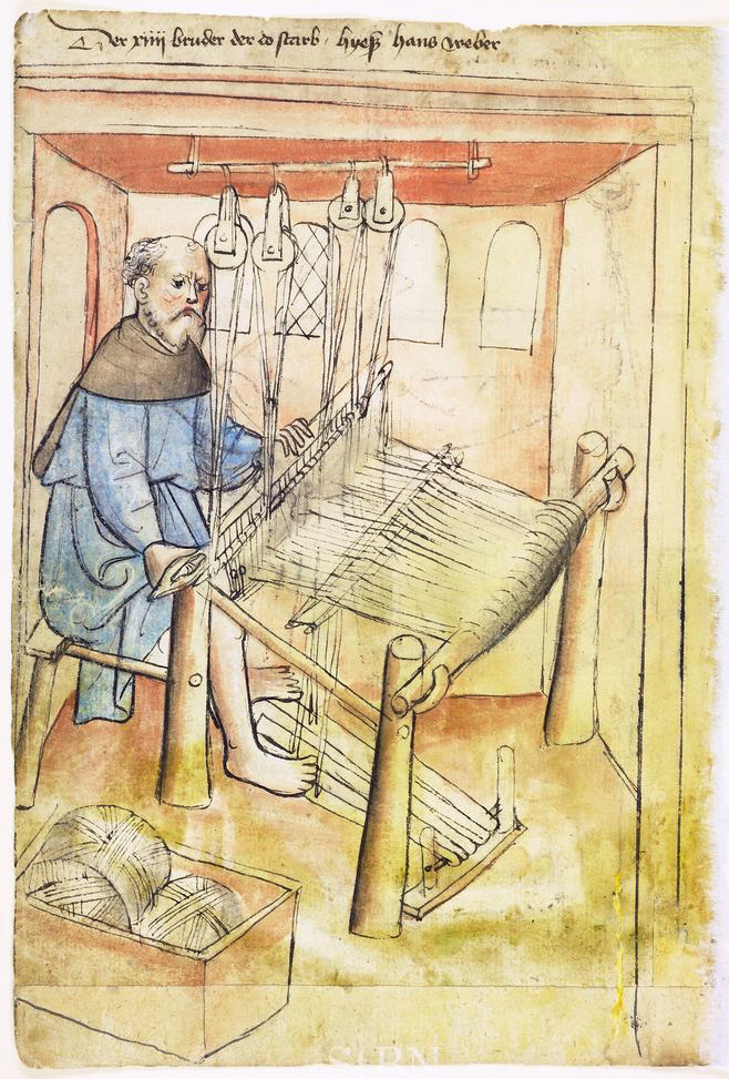Medieval farming year: Weaving
