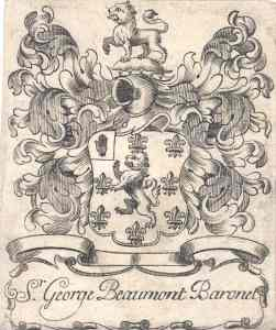 Crest of Baronet George Beaumont